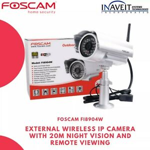 Foscam FI8904W External Wireless IP Camera with 20m Night Vision and Remote View