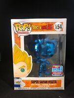 Dragon Ball Z Blue Chrome Super Saiyan Vegeta 2018 NYCC Funko Pop