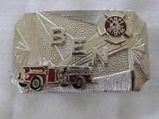 VINTAGE SALESMAN'S SAMPLE FIRE DEPARTMENT BELT BUCKLE/PERSONALIZED BEN