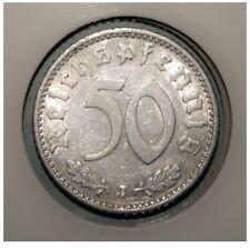 Germany 50 Reichspfennig 1935-J Extremely Fine Aluminum Coin