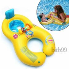 Safe Inflatable Mother Baby Swim Float Raft Chair Seat Play Ring Pool Bath SR