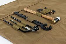 NcStar TGSARKT AR15/M4 13pc Gunsmithing Tool Kit w/Roll-up Cleaning Mat - TAN