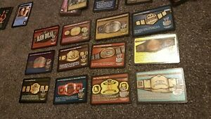 WWE Raw Deal Title Belt set x 11 tk prize cards