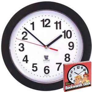 Backward Clock - Clock Appears To Run Backwards - Keeps Accurate, Backwards Time