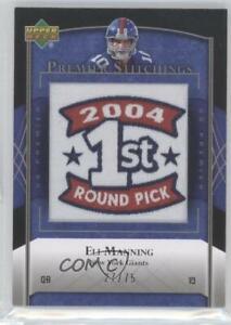 2007 UD Premier Stitchings Alternate Logos /75 Eli Manning #PS-65