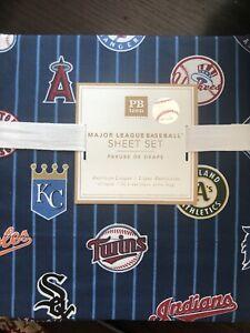 Pottery Barn Teen Major League Baseball MLB Twin XL Flat Sheet - New