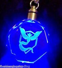 Pokemon Go crystal LED  team logo Keychain - Team Mystic