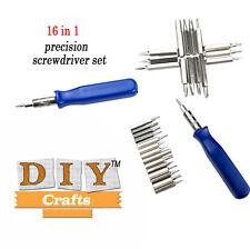 16 - 1 Precision Screwdriver bits Torx Kit DIY Tool Repair DIY CraftsBrand New