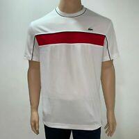 Lacoste Mens Sport Pique T Shirt Novak Djokovic Collection 3XL Fr 8 White Red
