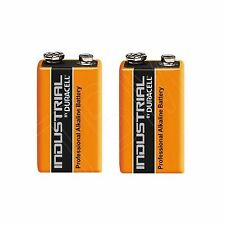 2 Duracell Procell 9 V Block Alkaline Battery PP3 6LR61 MN1604 Smoke Alarm