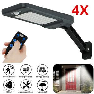 4X 60 LED Solar Sensor Lights Light Motion Detection Security Garden Flood Lamp