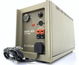 QUAD 303 STEREO POWER AMPLIFIER 90 Watts RMS Vintage 1978 Original 100% Like NEW