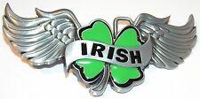 Trébol Irlandés Con Alas Hebilla De Cinturón fijar COMO TU Banda PROPIA Irlanda