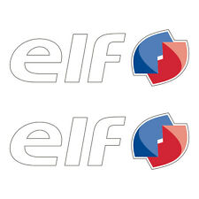2 Stickers plastifiés ELF - Kawasaki ZX-10R SBK - 16cm x 5cm