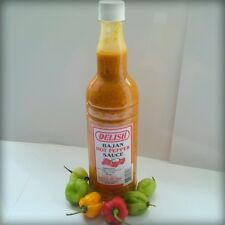 Hot pepper Sauce! 100% Bajan! LARGE 750ML! No Added Sugar! Mustard Base!