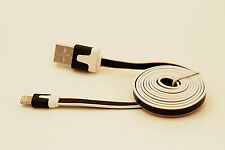 3-Toned Color Flat Noodle USB Data Cable for iPhone5 (Black)
