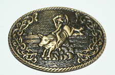 """""""RODEO""""  BELT BUCKLE TO FIT 1 1/2""""  LEATHER STRAP"""