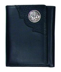 Jack Daniels Trifold Wallet  with concho and embossed logo (MSRP-42.99)