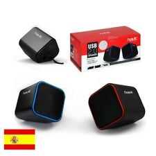 Altavoces para Ordenador con Cable USB 2.0 y Control Volumen para PC, Movil