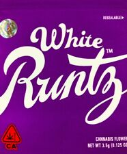 100 3.5gram White Runtz bags w/ Authenticity stickers