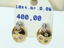 Ohrringe mit Diamant besetzt 0,06 ct, 18 Karat Gold! eVp 400,00 €