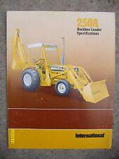 Vintage Original 1976 IH International Harvester 250A Backh Loader Specs Flyer