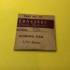 NOS Longines Winding Stem Cal.12L Part 401 Watch Parts Repair Restore Swiss New