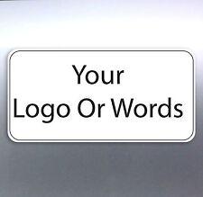 100 Business card sticker Custom Your Text Words logo Australian made free post