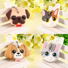 Cute Silicone Key Ring Cap Head Cover Keychain Case Shell Dog Cat Shape new