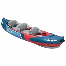 Kayak Tahiti Plus Inflatable Canoe Three Person Lake River and Sea Heavy Duty Boat