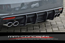 Cup Diffusor Ansatz für Audi A1 S1 8X Heck Ansatz Race Track Look Cap ABS IN