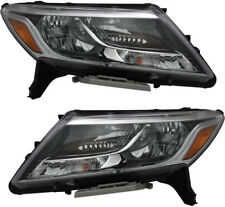 Headlights Headlight Assembly w/Bulb NEW Pair Set For 13-16 Nissan Pathfinder