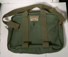 Vintage Lands' End Square Rigger Canvas Bag Carry On Army Green Made in USA