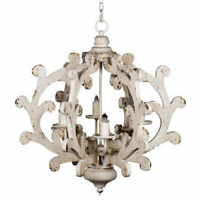 "Country Carved 6-Light Chandelier D25x27""-43743-DS"