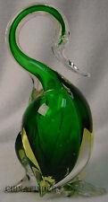 MURANO Art Glass GREEN DANCING DUCK Figurine