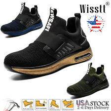 Mens Composite Steel Toe Work Safety Shoes Hiker Hiking Slip On Air Sneakers