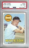 Russ Nixon 1969 Topps Vintage Baseball Card Graded PSA 6 EX-MT White Sox #363