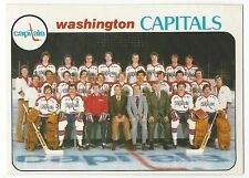 1978-79 OPC HOCKEY #208 CAPITALS CHECKLIST - EX+/NRMT-