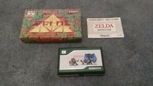 TRES RARE Nintendo Game and watch zelda EUR avec boite, notice et cache pile.