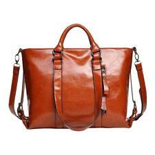Women's Lady Faux Leather Handbag Briefcase Laptop Tote Shoulder Messenger Bag