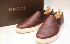 Gucci Mens Burgundy Leather Loafers Trainers Shoes UK 8.5 US 9.5 EU 42.5