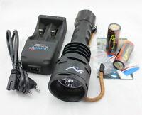 4800LM TrustFire Dive 3x CREE XML T6 LED Diving Torch Flashlight 26650 Lamp SET