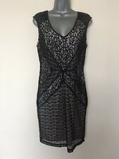 BNWT OASIS Black Lace Overlay Dress - Size S ( UK 10/12 ) RRP £50 !!!!!!!!!!!!!