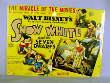 Snow White And The Seven Dwarfs 1937 Disney Metal Movie Poster Sign Repro