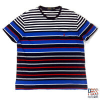 Polo Ralph Lauren Mens L Short Sleeve Classic Fit Cotton Pocket Shirt Striped