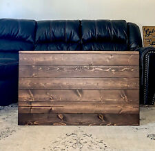 Farmhouse Style Handcrafted Wooden Storage Trunk Chest Coffee Table Rustic