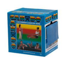CanDo Cando exercise band, blue, 50 yard dispenser, low powder 1214342 NEW