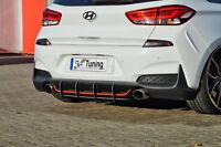 Racing Heckansatz Heckeinsatz Diffusor aus ABS für Hyundai I30N + Performance
