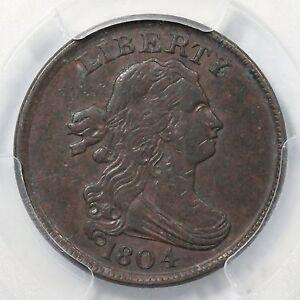 1804 C-11 R-2 PCGS XF 40 Plain 4, Stems Draped Bust Half Cent Coin 1/2c