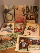 Lot Of Vintage 1900's~ CHRISTMAS~Postcards Antique  Thanksgiving Valentine's